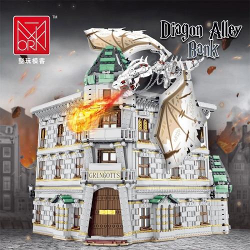 Mork 032101 Gringotts Bank & Ukranian Ironbelly Dragon - Dia--gon Alley | HOUSE