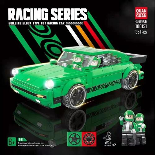 QUANGUAN 100151 THE GREEN SUPER CAR 911 | SPORT CAR