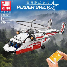 15012 THE MOULD KING HELICOPTER IN WHITE-RED | ACG