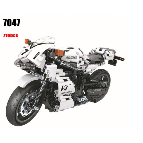 Winner 7047 White Racing motorcycle   TECHINC 