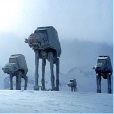 001 THE PLUS-SIZED AT-AT,A BIG GREY PUPPET  | SPACE